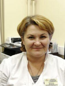 патронажная медицинская сестра Светлана Анатольевна Денисова